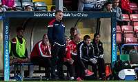 Bolton Wanderers' manager Phil Parkinson in front of his bench<br /> <br /> Photographer Andrew Kearns/CameraSport<br /> <br /> The Carabao Cup First Round - Rochdale v Bolton Wanderers - Tuesday 13th August 2019 - Spotland Stadium - Rochdale<br />  <br /> World Copyright © 2019 CameraSport. All rights reserved. 43 Linden Ave. Countesthorpe. Leicester. England. LE8 5PG - Tel: +44 (0) 116 277 4147 - admin@camerasport.com - www.camerasport.com
