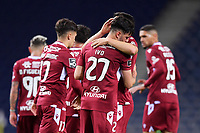 30th April 2021; Dragao Stadium, Porto, Portugal; Portuguese Championship 2020/2021, FC Porto versus Famalicao; Ivo Rodrigues of Famalicao celebrates his goal in the 44th minute 1-1