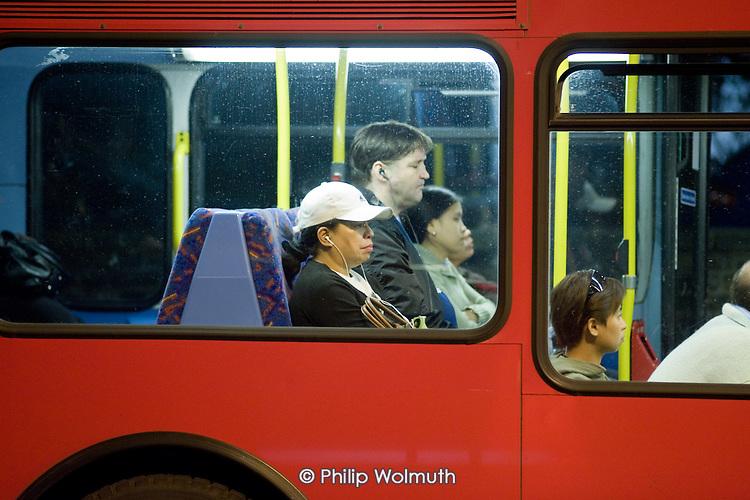 Late night bus, Cricklewood, London.
