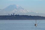 Seattle, Mount Rainier, from Kingston, Puget Sound, Washington State, Pacific Northwest, USA,