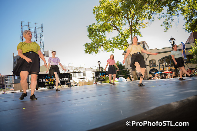 Dancing in the Street Festival at Grand Center in St. Louis, MO on Sept 21, 2013.