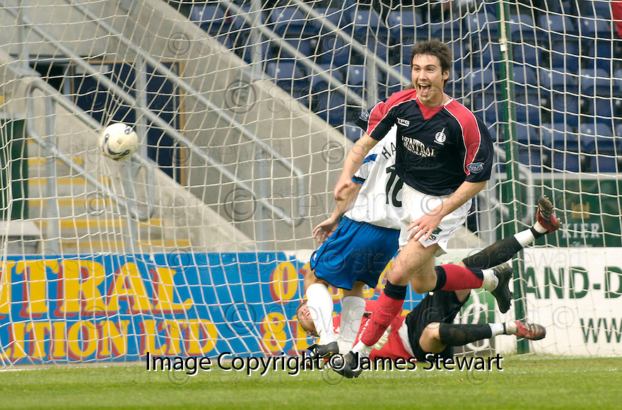 05/05/2007       Copyright Pic: James Stewart.File Name : sct_jspa05_falkirk_v_inverness.CARL FINNIGAN CELEBRATES AFTER HE SCORES FALKIRK'S GOAL.......James Stewart Photo Agency 19 Carronlea Drive, Falkirk. FK2 8DN      Vat Reg No. 607 6932 25.Office     : +44 (0)1324 570906     .Mobile   : +44 (0)7721 416997.Fax         : +44 (0)1324 570906.E-mail  :  jim@jspa.co.uk.If you require further information then contact Jim Stewart on any of the numbers above.........