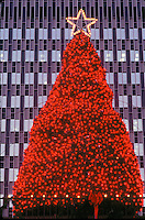 Christmas tree at Prudential Center, Boston, MA