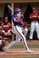 Clemson infielder John Hinson during a game versus the Boston College Eagles at Shea Field in Boston, Massachusetts on April 16, 2011.  Photo by Ken Babbitt /Four Seam Images