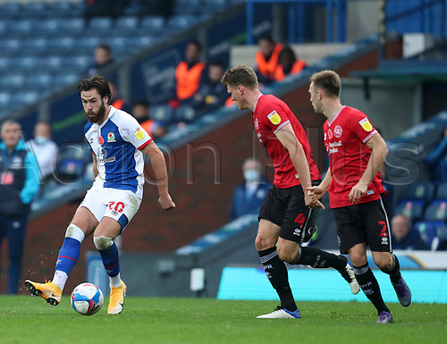 7th November 2020; Ewood Park, Blackburn, Lancashire, England; English Football League Championship Football, Blackburn Rovers versus Queens Park Rangers; Ben Brereton of Blackburn Rovers threads a pass through the QPR defence