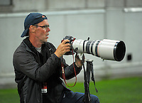 NRL photographer Shane Wenzlick shoots the NRL Premiership round seven match between the NZ Warriors and Canterbury Bulldogs at Westpac Stadium, Wellington, New Zealand on Saturday, 16 April 2016. Photo: Dave Lintott / lintottphoto.co.nz