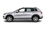 Car Driver side profile view of a 2014 Volkswagen Touareg Hybrid 5 Door SUV 2WD Side View