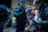 race winner Mathieu Van der Poel (NED/Beobank-Corendon) dug deep (again) to pull off another win<br /> <br /> Elite Men's race<br /> Superprestige Diegem 2016