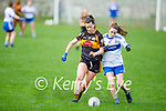 Austin Stacks Norma O'Connor and Elaine Doody of  Castleisland Desmonds tussle for possession in the Kerry Ladies Intermediate Football championship game