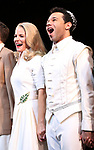 """Kelli O'Hara, Corbin Bleu during the Broadway Opening Night Curtain Call for """"Kiss Me, Kate""""  at Studio 54 on March 14, 2019 in New York City."""