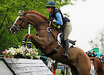 LEXINGTON, KY - APRIL 30: #5 Share Option and Lillian Heard compete in the Cross Country Test for the Rolex Kentucky 3-Day Event at the Kentucky Horse Park.  April 30, 2016 in Lexington, Kentucky. (Photo by Candice Chavez/Eclipse Sportswire/Getty Images)