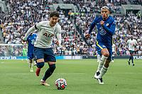19th September 2021; Tottenham Hotspur Stadium, Tottenham, London; Son Heung-min goes past Thiago Silva during the Premier League match between Tottenham Hotspur and Chelsea at Tottenham Hotspur Stadium