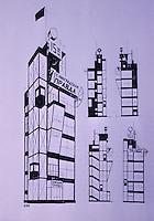 Russia:  Pravda Building Project, 1924.  Leonid Alexander and Victor Vesnin.