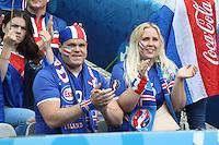 Island Fans jubeln - UEFA EURO 2016: Frankreich vs. Island, Stade de France, Viertelfinale