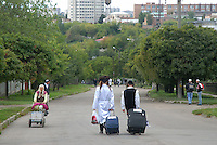 UKRAINE, Uman, 2008/09..Many Hasidic Jews travel to Ukraine from Israel and the United States to attend the Rosh Hashanah celebrations in Uman. There is a large Breslov community in Brooklyn. After a week in Uman, most of them go home..© Cyril Horiszny / EST&OST