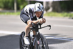 Victor Campenaerts (BEL) Team Qhubeka Assos recces the route during Stage 1 of the 2021 Giro d'Italia, and individual time trial running 8.6km around Turin, Italy. 8th May 2021.  <br /> Picture: LaPresse/Fabio Ferrari   Cyclefile<br /> <br /> All photos usage must carry mandatory copyright credit (© Cyclefile   LaPresse/Fabio Ferrari)