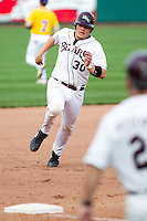 Luke Voit (30) of the Missouri State Bears during a game vs. the Western Illinois Leathernecks at Hammons Field in Springfield, Missouri;  March 20, 2011.  Photo By David Welker/Four Seam Images