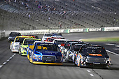 NASCAR Camping World Truck Series<br /> winstaronlinegaming.com 400<br /> Texas Motor Speedway, Ft. Worth, TX USA<br /> Friday 9 June 2017<br /> Christopher Bell, JBL Toyota Tundra and Chase Briscoe, Cooper Standard Ford F150<br /> World Copyright: Nigel Kinrade<br /> LAT Images<br /> ref: Digital Image 17TEX2nk03838