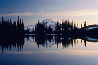 Glacier Peak from Image Lake<br /> Glacier Peak Wilderness<br /> Mt. Baker National Forest<br /> Cascade Range,  Washington