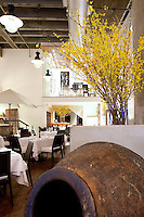 earthenware jar inside the restaurant Milos Restaurant New York City