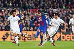 Real Madrid's Marcelo Vieira, Lucas Vazquez, FC Barcelona's Andre Gomes during spanish La Liga match between Futbol Club Barcelona and Real Madrid  at Camp Nou Stadium in Barcelona , Spain. Decembe r03, 2016. (ALTERPHOTOS/Rodrigo Jimenez)
