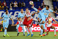 Harrison, NJ - Thursday Sept. 15, 2016: Gonzalo Veron, Danny Torres Angel during a CONCACAF Champions League match between the New York Red Bulls and Alianza FC at Red Bull Arena.
