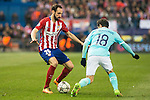 Atletico de Madrid's Juanfran Torres and PSV Eindhoven's Andres Guardado during UEFA Champions League match. March 15,2016. (ALTERPHOTOS/Borja B.Hojas)