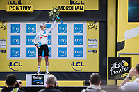 white jersey / best young rider Tadej Pogacar (SVN/UAE-Emirates)<br /> <br /> Stage 3 from Lorient to Pontivy (183km)<br /> 108th Tour de France 2021 (2.UWT)<br /> <br /> ©kramon