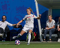 GRENOBLE, FRANCE - JUNE 22: Giulia Gwinn #15 of the German National Team passes the ball during a game between Panama and Guyana at Stade des Alpes on June 22, 2019 in Grenoble, France.