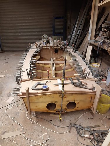 Vintage GP14 dinghy Ventura a year and a half ago - work to be done