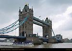 Tower Bridge, Bascule and Suspension Bridge, River Thames, London, England, UK