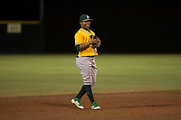 AZL Athletics shortstop Alexander Campos (8) during an Arizona League game against the AZL Giants Black at the San Francisco Giants Training Complex on June 19, 2018 in Scottsdale, Arizona. AZL Athletics defeated AZL Giants Black 8-3. (Zachary Lucy/Four Seam Images)