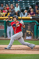 Ji-Man Choi (38) of the Tacoma Rainiers at bat against the Salt Lake Bees in Pacific Coast League action at Smith's Ballpark on September 2, 2015 in Salt Lake City, Utah. Tacoma defeated Salt Lake 13-6. (Stephen Smith/Four Seam Images)
