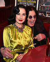 """HOLLYWOOD - FEBRUARY 20: Dita Von Teese attends Ozzy Osbourne global tattoo and album listening party to celebrate his new album """"Ordinary Man"""" on February 20, 2020 in Hollywood, California. (Photo by Lionel Hahn/Epic Records/PictureGroup)"""