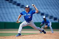 Toronto Blue Jays pitcher Brody Rodning (31) during an Instructional League game against the Philadelphia Phillies on September 23, 2019 at Spectrum Field in Clearwater, Florida.  (Mike Janes/Four Seam Images)
