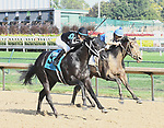 LOUISVILLE KY - September 16: The Tabulator wins the 49th running of the Iroquois (Grade 3) $150,000 for owner Carolyn Wilson, trainer Larry Rivelli and jockey Jose Valdivia, Jr.  September 16, 2017