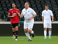 Kristian O'Leary (C) during the Alan Tate Testimonial Match, Swansea City Legends v Manchester United Legends at the Liberty Stadium, Swansea, Wales, UK