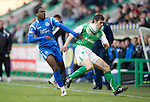 Hibs v St Johnstone....27.11.10  .Michael Hart and Cleveland Taylor.Picture by Graeme Hart..Copyright Perthshire Picture Agency.Tel: 01738 623350  Mobile: 07990 594431