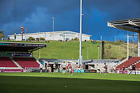 10th October 2020; Sixfields Stadium, Northampton, East Midlands, England; English Football League One, Northampton Town versus Peterborough United; Football supporters on the hill outside the stadium catch a glimpse of the action.