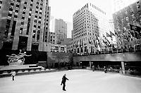 January ,1987 File Photo - New-York (NY) USA - Ice rink of Rockefeller Centre