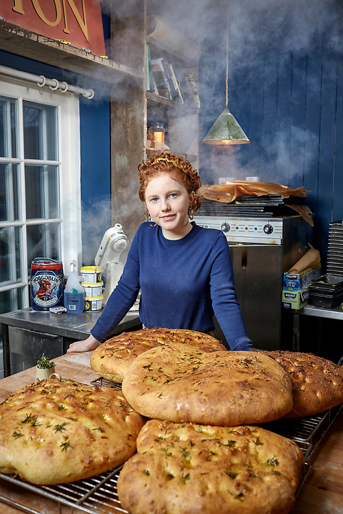 © John Angerson.<br /> Kitty Tait (15) who has left school and set up the Orange bakery in Watlington, Oxfordshire.<br /> Beer and Marmite are often added to her bread recipes.