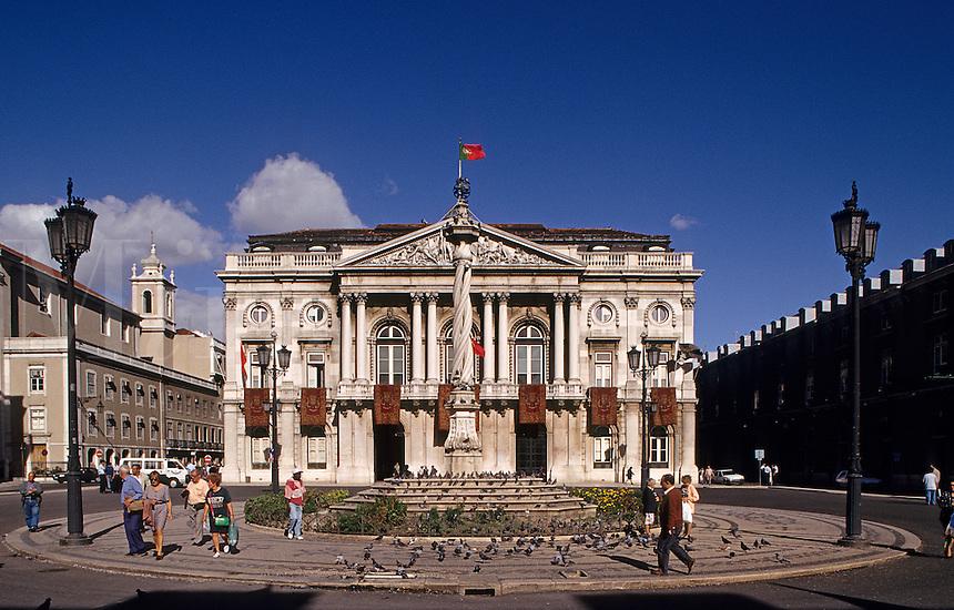 Lisbon. Old City Hall. Praca do Municipio. Built in 1774.  Portugal..