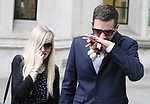 Pic shows: Charlie Gard Case at Supreme Court<br /> <br /> Connie Yates and  Chris Gard leave the court in tears after losing appeal with their sick baby in hospital<br /> <br /> <br /> <br /> <br /> Pic by Gavin Rodgers/Pixel 8000 Ltd