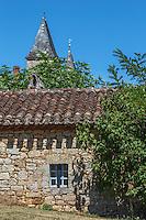 France, Lot, (46), Montcabrier : Maisons du village // France, Lot, Montcabrier: village houses