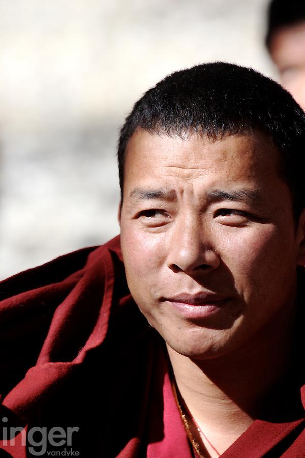 The Monk Debate at Sera Monastery in Lhasa, Tibet