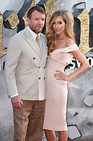 """director Guy Ritchie and wife, Jacqui Ainsley<br /> at the premiere of """"King Arthur:Legend of the Sword"""" at the Empire Leicester Square, London. <br /> <br /> <br /> ©Ash Knotek  D3265  10/05/2017"""