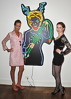 """Esmé Bianco (right) & Lady Victoria Hervey at reception for Amanda Eliasch's neon art exhibition """"Peccadilloes"""" at the Leadapron Gallery, West Hollywood..June 16, 2011  Los Angeles, CA.Picture: Paul Smith / Featureflash"""