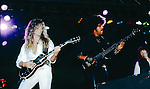 John Sykes, Phil Lynott, Scott Gorham of Thin Lizzy