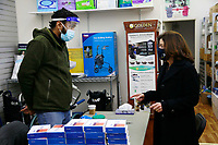 NEW YORK, NY - JANUARY 7: New York State Lieutenant Governor Kathy Hochul, along with Manhattan Borough President Gale Brewer and New York State Senator Brad Hoylman visits a COVID 19 Micro-testing site and thanks Healthcare Workers held at the Mobility & Medical Equipment Store in the Chelsea section of New York City on January 7, 2021.  <br /> CAP/MPI43<br /> ©MPI43/Capital Pictures
