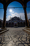 The Sultan Ahmed Mosque also known as The Blue Mosque during Stage 7 of the 2015 Presidential Tour of Turkey running 124km from Istanbul to Istanbul. 3rd May 2015.<br /> Photo: Tour of Turkey/Steve Thomas/www.newsfile.ie